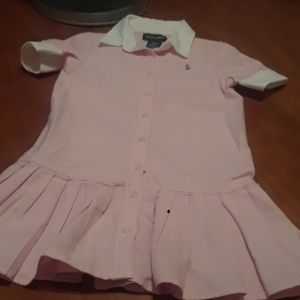 Ralph Lauren girls button up dress